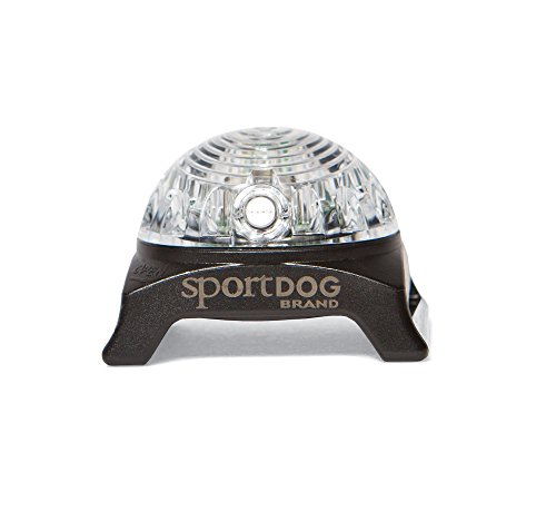 SportDOG Brand Locator Beacon - Bright, Waterproof Dog Collar Light with Carabiner - Flashing or Solid Safety Light can be Used for Night Walking, Jogging, Camping, Hunting, or Hiking, SDLB-White
