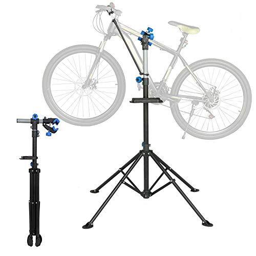 SUNJULY Portátil reparación de Portabicicletas, Soporte de Trabajo para Bicicleta Plegable 360°...