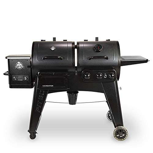 PIT BOSS PB1230G Wood Pellet and Gas Combo Grill, Black