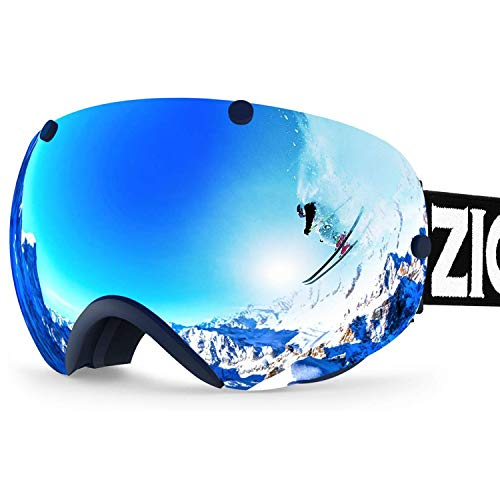 ZIONOR XA Ski Snowboard Snow Goggles for Men Women Anti-Fog UV Protection...