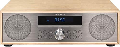 Crosley CR3501A-NA Fleetwood Bluetooth FM Clock Radio and CD Player, Natural
