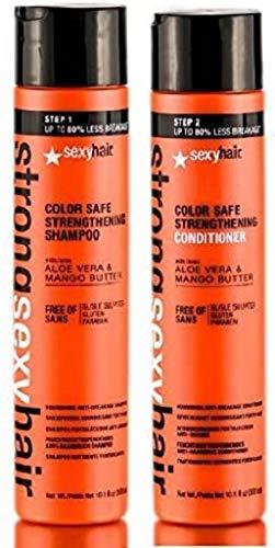 solide sexy cheveux, DE Safe Shampoing fortifiant 300 ml et après-shampoing 300 ml Duo de couleur