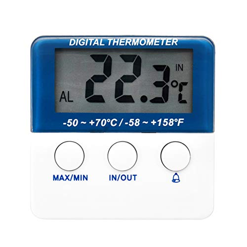 ILS elektronische aquarium digitale thermometer met hoge temperatuur alarm vistank thermometer