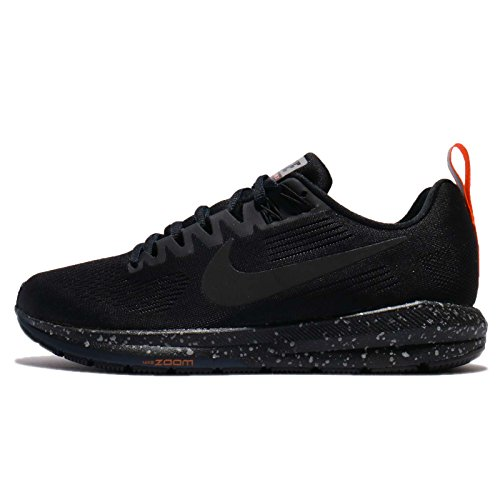 Nike Women's Air Zoom Structure 21 Shield Running Shoe Black/Black-Black-Obsidian 11.0