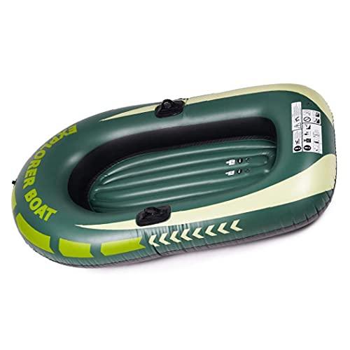 fedsjuihyg Barcos Barco Inflable Challenger Inflable del Barco fijada Espesado Remo para Niños Verde Una Persona Kayak Accesorios