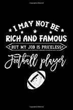 Notebook: Rich And Famous Football Player Gift Black Lined College Ruled Journal - Writing Diary 120 Pages