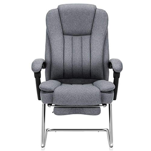 Video Game Chair,Rotating Ergonomic Computer Chair,Reclining Home Lunch Break Chair Study Chair Fabric Office Chair Ergonomic Bow Chair Loading 200Kg,Gray,64 52.5 109cm with Backrest