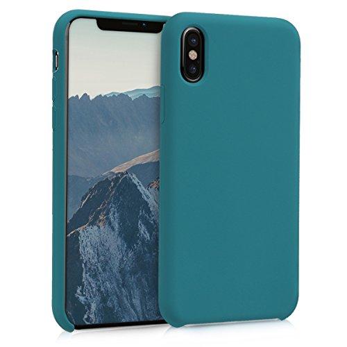 kwmobile Funda Compatible con Apple iPhone X - Funda Carcasa de TPU para móvil - Cover Trasero en petróleo