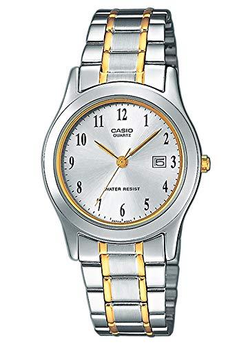 Casio Collection LTP-1264PG-7B, Reloj Análogo Clásico, Acero Inoxidable, Plateado