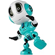 Toy Robots for Boys or Girls - DITTO Mini Talking Robots for Kids w/ Posable Body, Interactive Voice Changer Robot Travel Toys Stocking Stuffers (Blue)