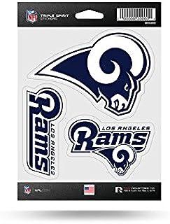 NFL Los Angeles Rams Die Cut 3 teilig Triple Spirit Sticker Bogen