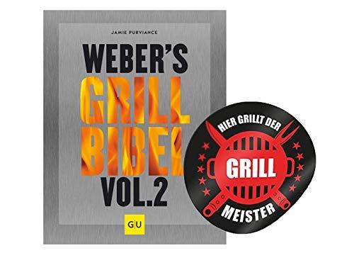 Weber Weber\'s Grillbibel Vol. 2 (GU Grillen) Gebundenes Grill Buch + Grillmeister Sticker