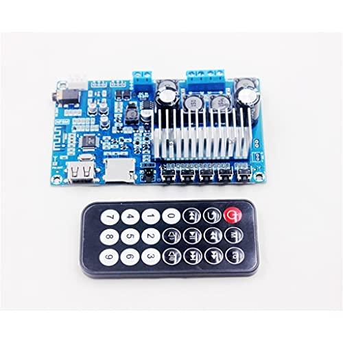 RongWang 50w * 2 Bluetooth 5.0 Receptor de Audio Estéreo Placa de Amplificador de Potencia Digital Radio FM Decodificación USB Control Remoto