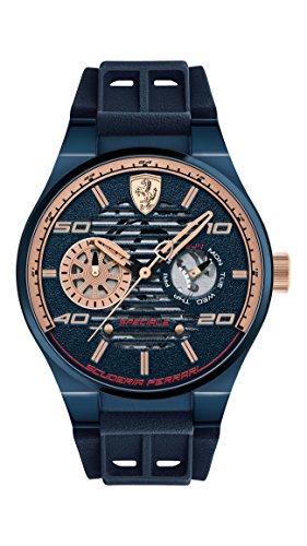 Scuderia Ferrari Reloj Análogo clásico para Hombre de Cuarzo con Correa en Silicona 830459