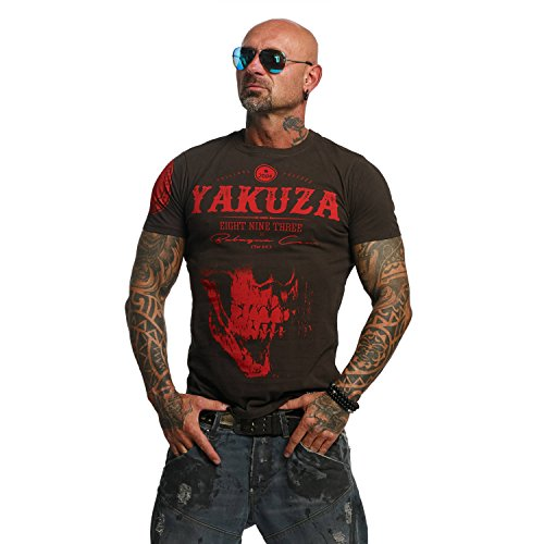 Yakuza Original Herren Daily Skull T-Shirt - Coffee Bean - Gr. L