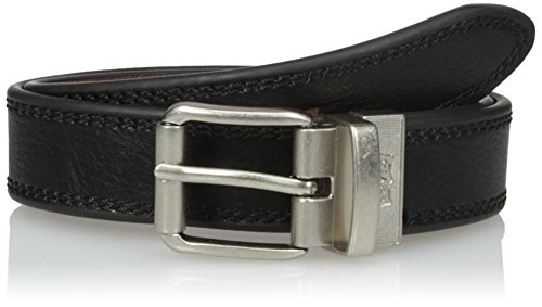 Levi's Big Boys Levi's Boys Reversible Belt With Stitch Edge and Roller Buckle, black/Brown, S