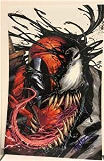 SDCC 2019 DEADPOOL Back in BLACK # 1 Cover PRINT Lithograph SIGNED by Tyler Kirkham