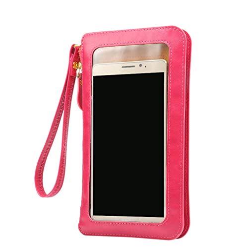 sweetWU Small Women Crossbody Clutch Purse Cell Phone Wristlet Wallet Case Bag