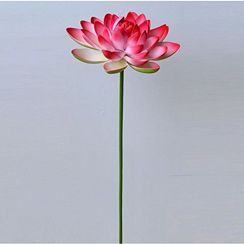 Jnseaol Kunstblumen 2St Künstliche Blume Lotus Künstliche Blume Diy Teich Brunnen Dekoration Eine Große Verzierung Rot -03