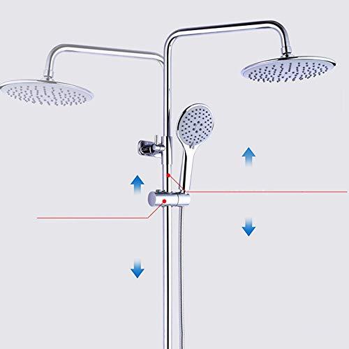 Cabezales de ducha Sistema de ducha con rociador superior redondo de 15 cm Grifo de ducha de latón 4 modelos Juego de ducha de agua caliente y fría sin elevador for uso doméstico