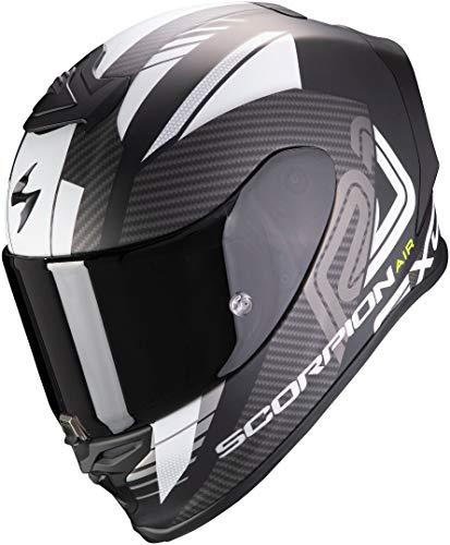 Scorpion NC Casco per Moto, Hombre, Negro/Blanco, M