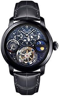 Memorigin - Reloj Tourbillon negro MO1119 Zeus Series para hombre