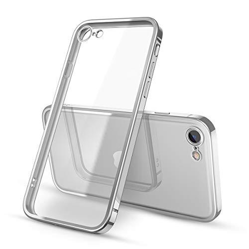 Yokata Cover per iPhone SE 2020, Cover iPhone 7, Cover iPhone 8 Trasparente Silicone TPU Ultra Sottile Slim Antiurto Bumper Protettiva Case Cover per iPhone 7 8 SE 2020 - Argento