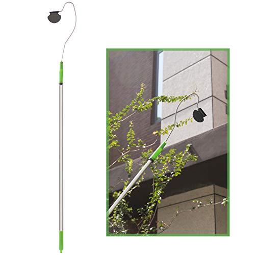 Gardenised Telescopic Gutter Cleaner, Green, QI003894