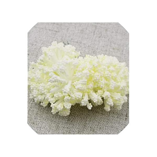 12Pcs/Lot Foam Chives Flower Artificial Flowers Handmade DIY Wedding Box Decoration Festive Party Supplies Wedding Decoration