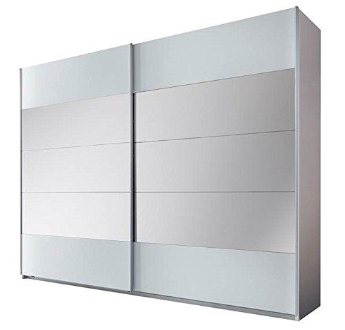 Stella Trading Penta  2-türiger Kleiderschrank, Holz, weiß, 60 x 215 x 210 cm