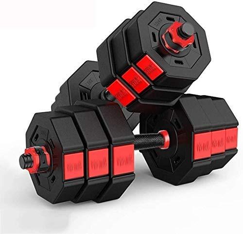 AOLI un par de mancuernas de fitness con mancuernas desmontables combinadas con mancuernas equipo de gimnasia mancuernas ajustables mancuernas para culturismo