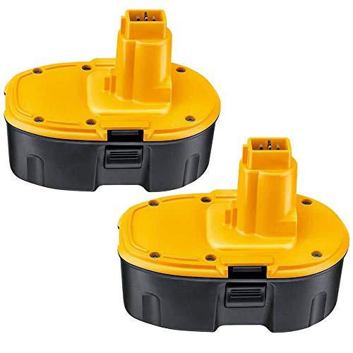 [2 Packs] Powayup DE9503 18V 3.6Ah Ni-MH Batería Reemplazo para DeWalt DC9096 DE9096 DW9096 DW9098 DE9039 DE9095 DE9503 DW9095