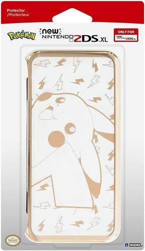 Hori - Carcasa Pikachu, Color Dorado (New Nintendo 2Ds XL