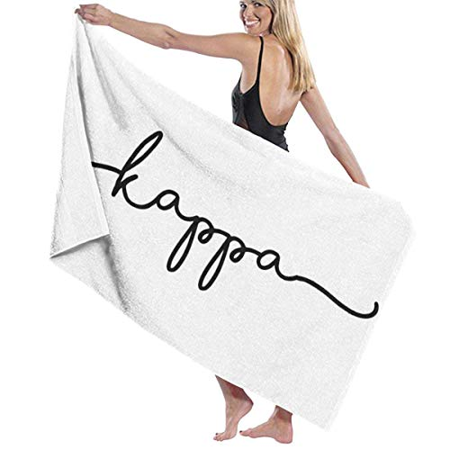Cute Black Kappa Script Beach Towel Travel Towels for Camping,Sports,Yoga,Swimming,Gym Quick Dry Bath Towel 31.5