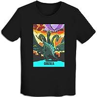 プリント 半袖シャツ メンズ T-Shirt ゴジラgodzilla Tシャツ Black S