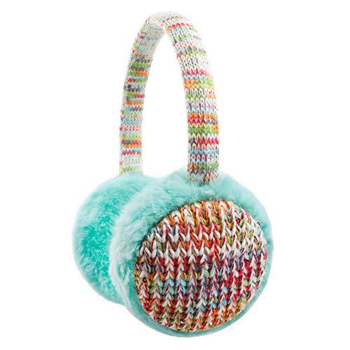 Kinder-Ohrenschützer, gestrickt, für den Winter, Outdoor, Plüsch, Ohrwärmer für Jungen und Mädchen, 4–16 Jahre - Gr�n - Eine Größe passt meistens