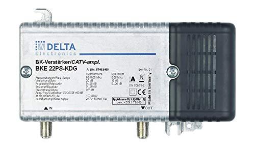 DCT Delta–BKE 22PS KDG VPE: 1, Hausanschlussverstärker KDG B (1.1) 1GHz 21dB, RW 65MHz 18dB Verstellvorrichtung Ebene