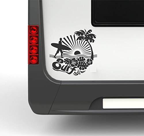 klebenswichtig Surf S 25cm Camper Vacaciones Camping Acampada Pegatina Pegatinas Furgoneta Autocaravana Caravana Vinilo Adhesivo Sticker vinilos para caravanas, autocaravanas