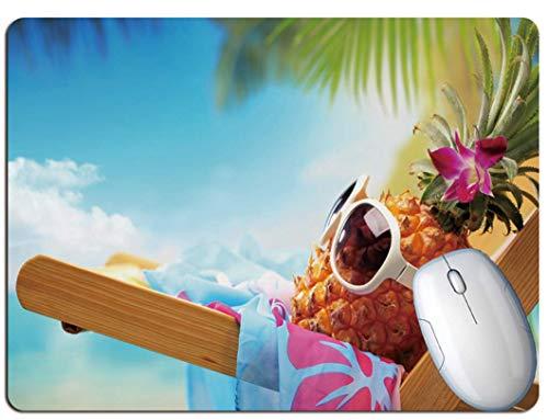 Gaming-Mauspad, Exquisite Ananas Auf Dem Stuhl Liegend, Strapazierfähiges Gummi, Office-Gaming-Laptop-Gaming-Mauspad
