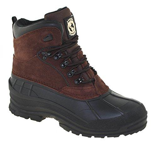 Khombu Rugged Exposure Men's Mammoth II Waterproof Winter Boots Dark Brown, 7M