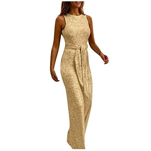clasificación y comparación Pantalones Mono casual para mujer Pierna ancha Elegante Pantalón con hombros descubiertos Traje … para casa