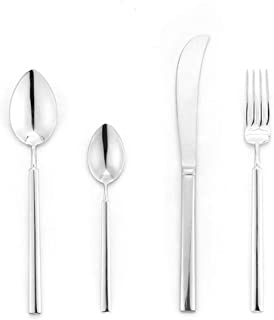 YWDGZFB 4 قطع من الفضة ضوء الفولاذ المقاوم للصدأ والسكاكين مجموعة الطعام الغربي
