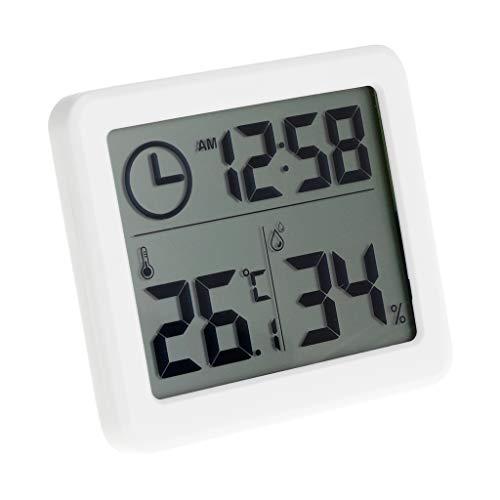 Besttse électronique Automatique Température et humidité Moniteur Horloge 8,1 cm LCD écran Digital