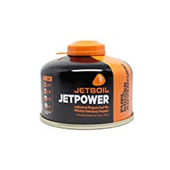 Jetboil's high-performance propane/isobutane 4-season fuel delivers high vapor pressure, improving your system's performance in cold weather. At 100 grams, this Jetpower Fuel canister contains enough fuel to boil approximately 12 liters of water. The...