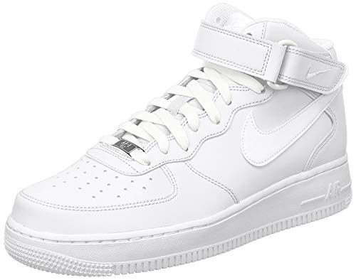 Nike Air Force 1 Mid 07, Sneakers Hautes Homme, Blanc, 42.5 EU