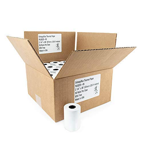 CC Receipt Paper 2-1/4' x 85 ft - {50 ~ Thermal Paper Rolls per Pack} | BPA Free for POS terminals: Clover Mini | First Data fd130 fd100ti fd50 fd55 | Verifone Vx510 Vx570 | Sharp Registers | Pax S8