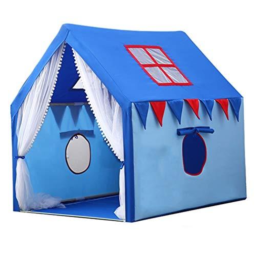 Tiendas de Niños Tienda De Juegos De Interior For Chico Y Niña, Gran Espacio For Niños Play Play Castle, Fácil De Instalar Soporte De Madera Maciza, 100x126x120cm, 2 Colores
