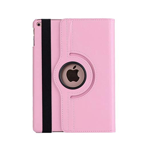 QiuKui Tab Cover For iPad 9.7 2018 2017 ipad 11 2020 /ipad 10.2, 360 Rotating Leather Smart Coque+film+pen Cover for Air 2 Air Case 5th 6th (Color : Pink, Size : For ipad 10.2 7th)