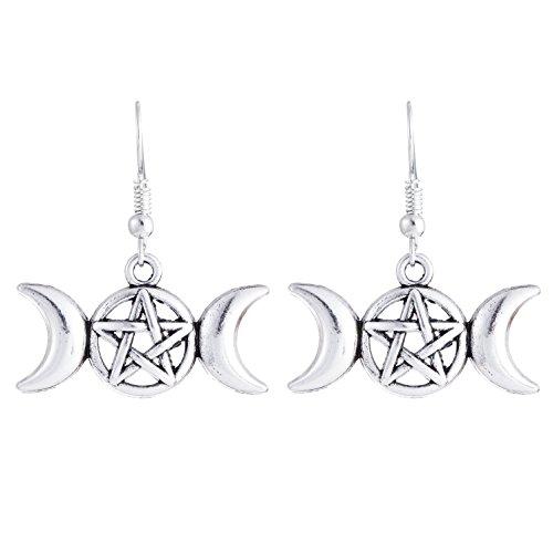 NEW Mode Slave Kolovrat amulette boucles d'oreilles goutte Bijoux pour ado filles et femmes blanc