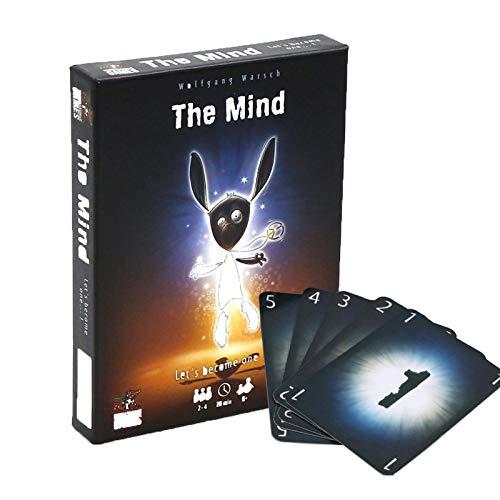 YZHM The Mind Card Games 2-4 Jugadores para niños Familiares Adultos Regalos para niños, Juego de la Mente para Grandes relaciones Divertidas, Fiesta de Fiesta